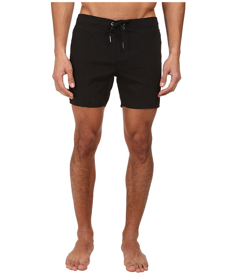Emporio Armani - Tape Logo Long Swim Bottoms (Black/Gold) Men's Swimwear