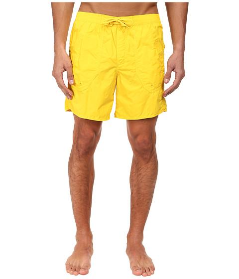 Emporio Armani - Eagle Embroidery Mid-Length Swim Bottoms (Sun Yellow) Men's Swimwear