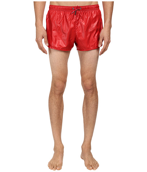 Emporio Armani - Eagle Dot Short Swim Bottoms (Lacquer Red) Men