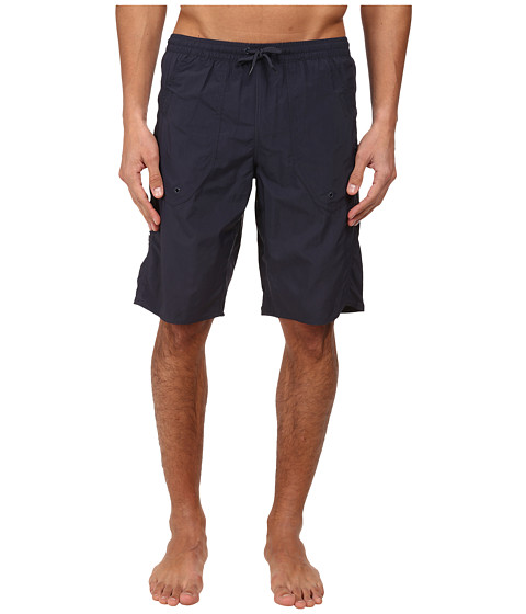 Emporio Armani - Eagle Embroidery Long Swim Bottoms (Marine) Men