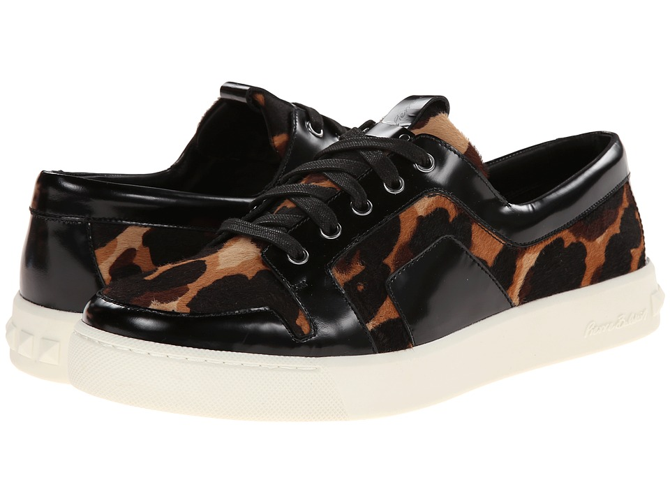 Pierre Balmain - Printed Sneaker (Black/Tan) Men's Shoes