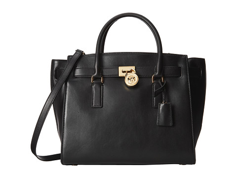 MICHAEL Michael Kors Hamilton Traveler Large Traveler (Black 1) Satchel Handbags