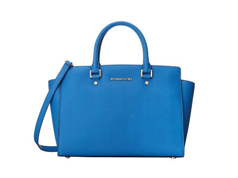 MICHAEL Michael Kors Selma (Heritge Blue) Satchel Handbags