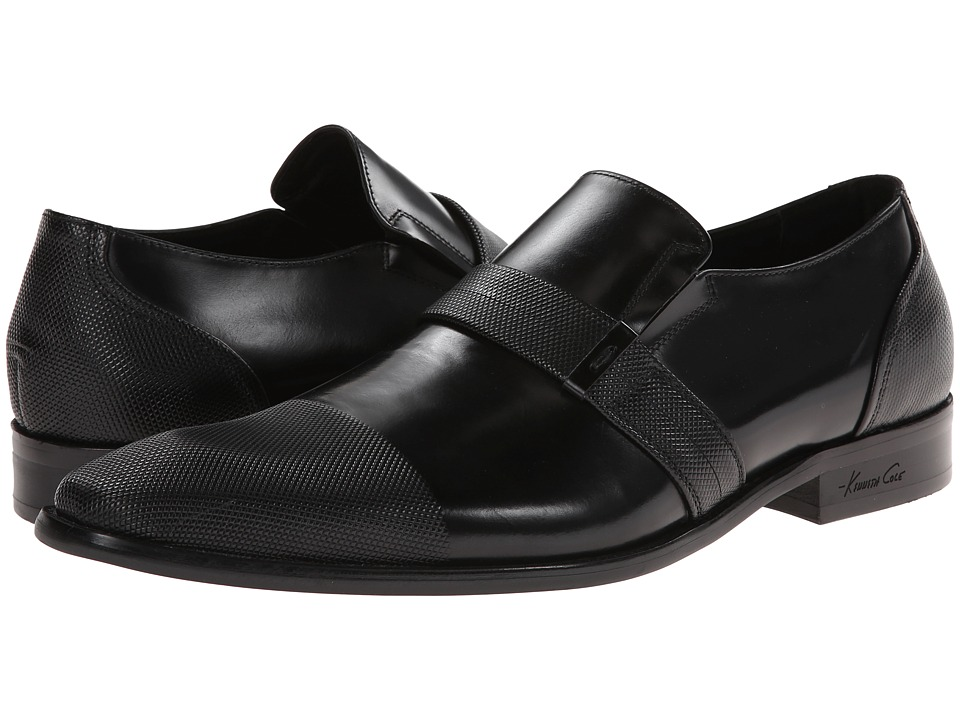 Kenneth Cole New York - Clip Art (Black) Men's Slip on Shoes