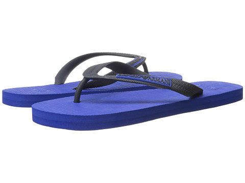 Emporio Armani - Logo Flip Flop (Blue) Men's Sandals