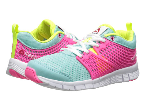 Reebok Kids - ZQuick Dash (Little Kid) (Crystal Blue/Solar Pink/White/Solar Yellow) Girls Shoes