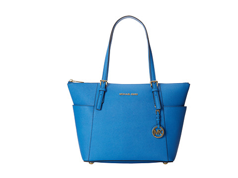 MICHAEL Michael Kors - Jet Set Saffiano Top Zip Tote (Heritge Blue) Tote Handbags
