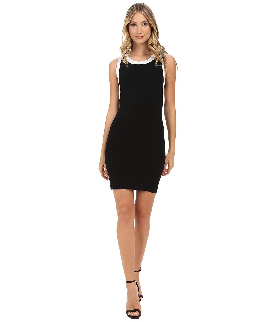 Pierre Balmain - Color Block Sheath Dress (Black) Women's Dress