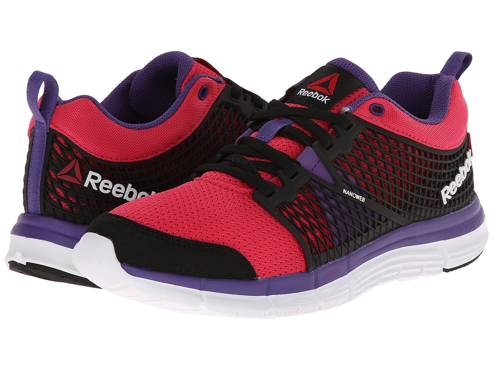 Reebok Kids - ZQuick Dash (Big Kid) (Black/Blazing Pink/Sport Violet/White) Boys Shoes