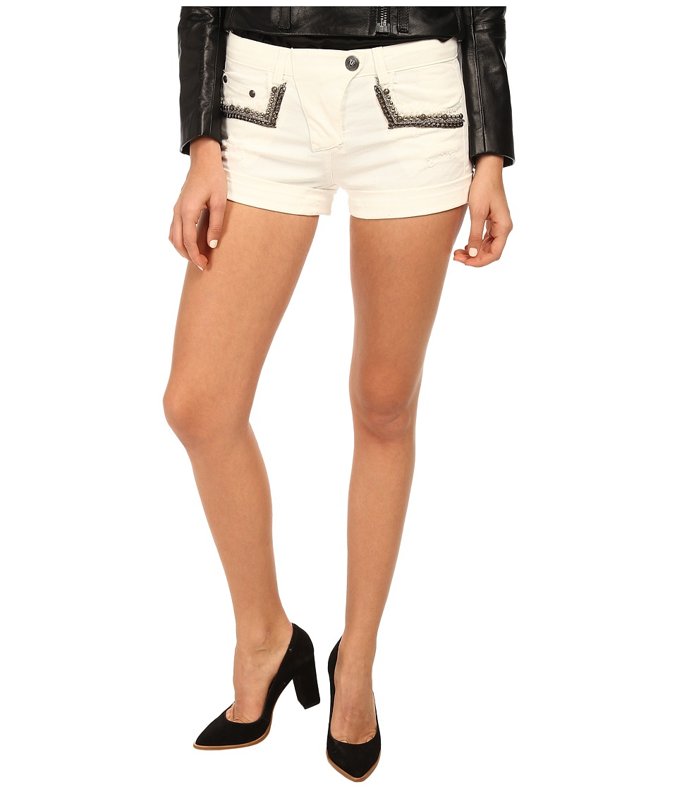 Pierre Balmain - Shorts with Studded Pockets (Raw White) Women