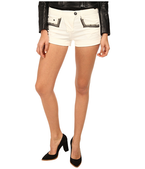 Pierre Balmain - Shorts with Studded Pockets (Raw White) Women's Shorts