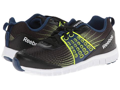 Reebok Kids - Z Dual Rush (Little Kid) (Black/Batik Blue/Solar Yellow/White) Boys Shoes