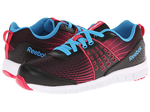 Reebok Kids - Z Dual Rush (Little Kid) (Black/Blazing Pink/Blue Beam/White) Girls Shoes