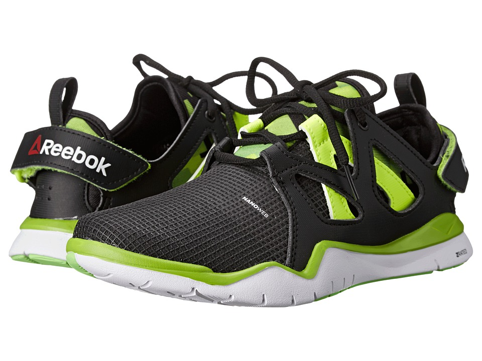 Reebok Kids - ZCut TR (Big Kid) (Black/Solar Green/Solar Yellow/Ultra Lime/White) Boys Shoes