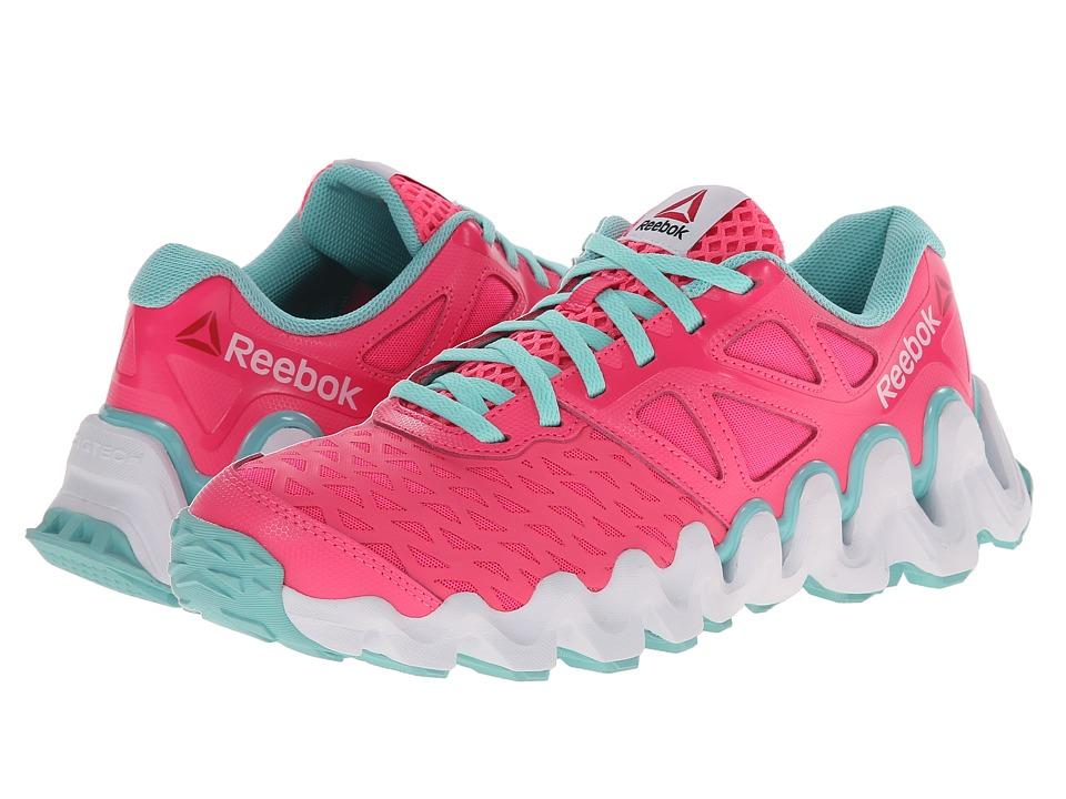 Reebok Kids - ZigTech Big N Tough (Big Kid) (Solar Pink/Crystal Blue/White) Girls Shoes