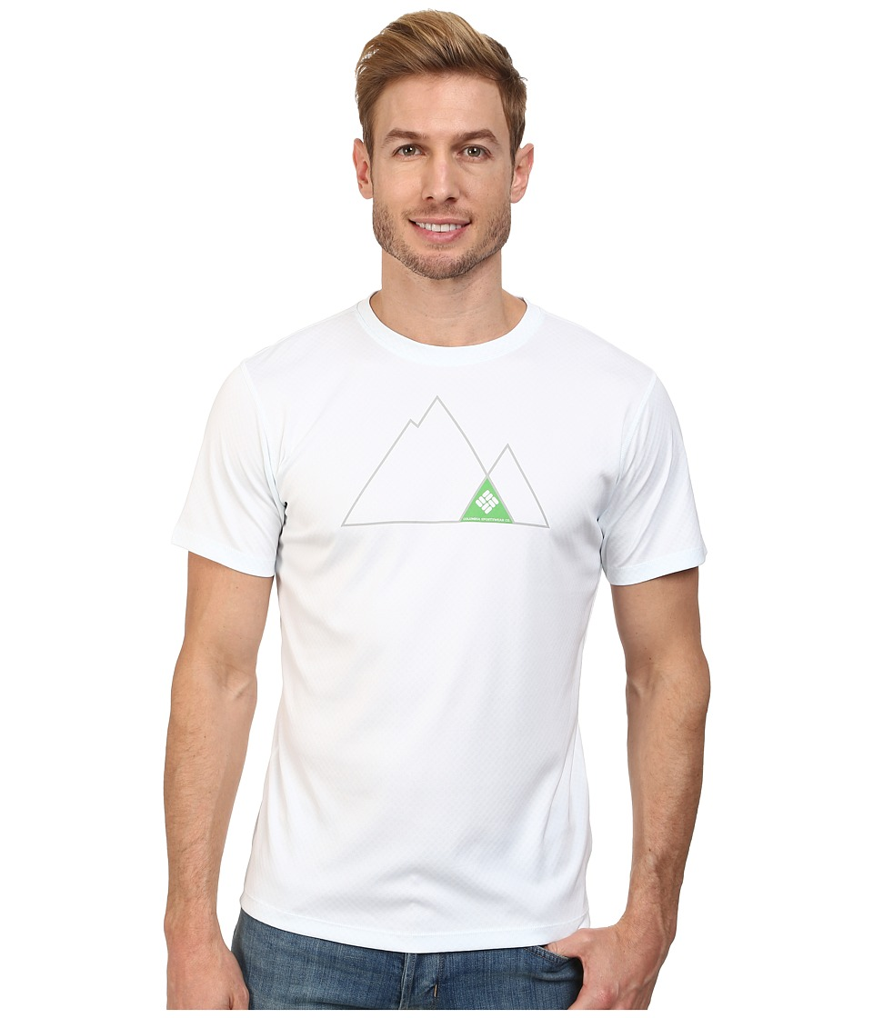 Columbia - Zero Rules Graphic S/S Shirt (White/Columbia Grey) Men's T Shirt