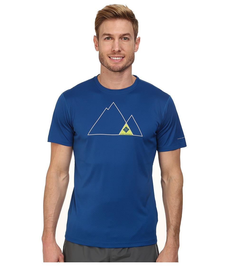 Columbia - Zero Rules Graphic S/S Shirt (Marine Blue) Men