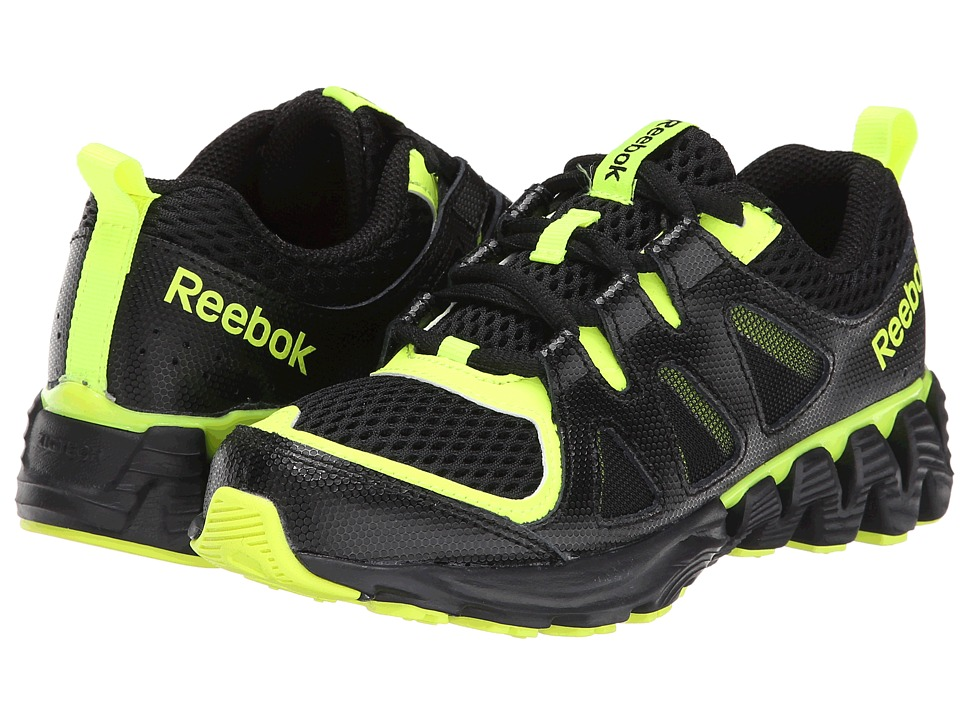 Reebok Kids - ZigKick 2K15 (Little Kid) (Black/Solar Yellow/White) Boys Shoes