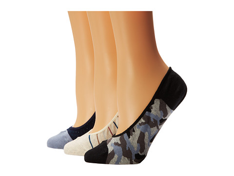 Cole Haan - Ombre, Camo Lurex Liner 3-Pack w/ Gel Heel (Assorted 2) Women's Crew Cut Socks Shoes