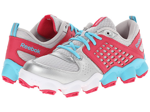 Reebok Kids - ATV19 Ultimate II (Big Kid) (Steel/Silver/Neon Blue/Blazing Pink/White) Girls Shoes