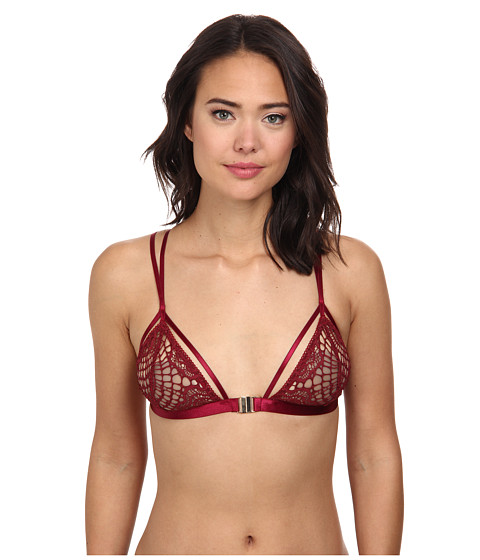 For Love and Lemons - Delicate Bondage Bralette (Red) Women's Bra