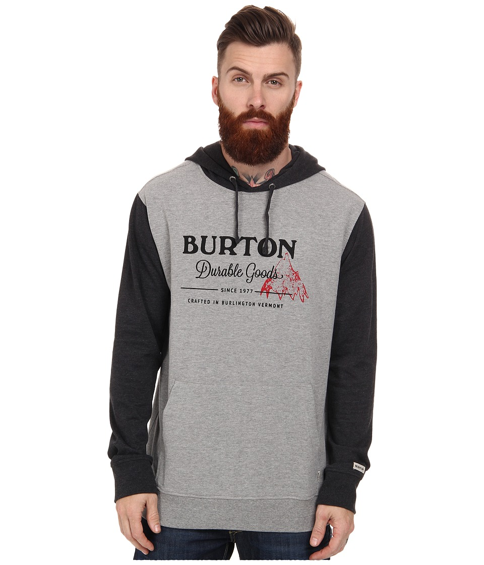 Burton - Durable Goods Pull Over (Gray Heather) Men's Sweatshirt
