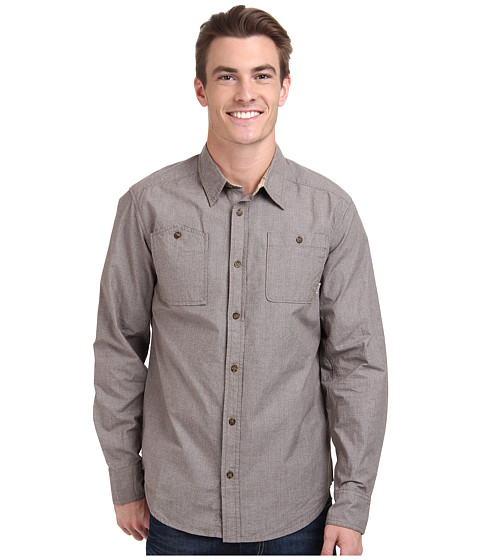 Burton - Glade L/S Woven (Java Grindle) Men's Long Sleeve Button Up