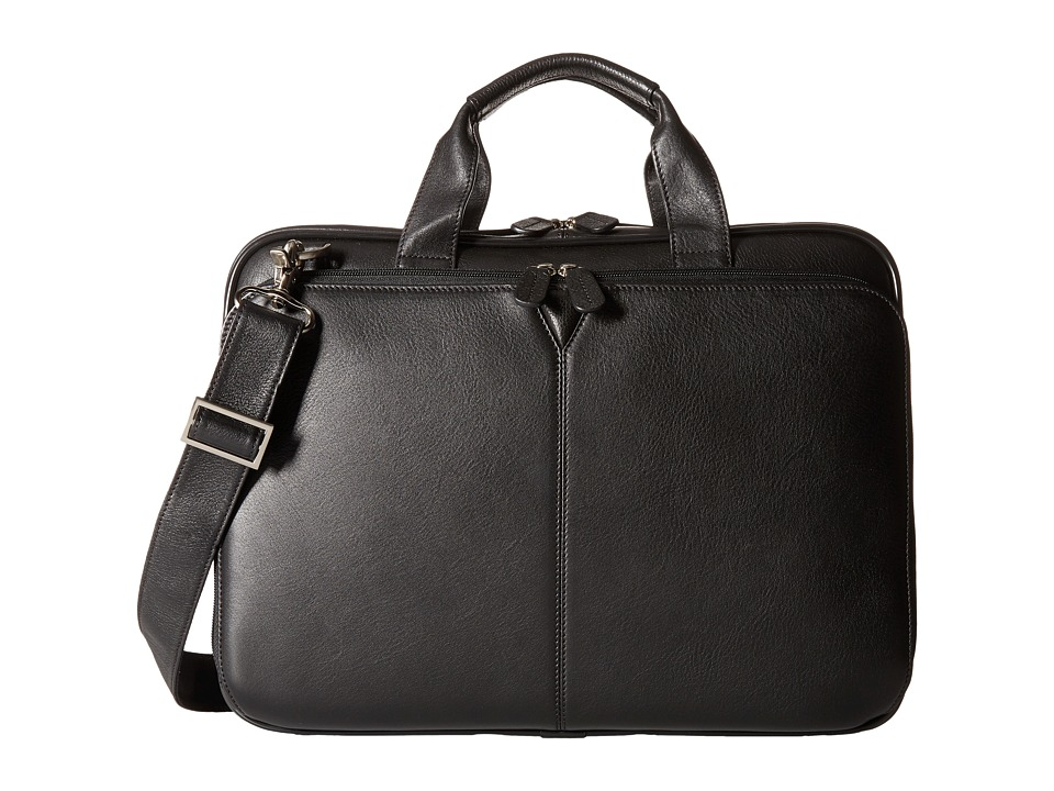 Johnston & Murphy - Slimline Briefcase (Black) Briefcase Bags