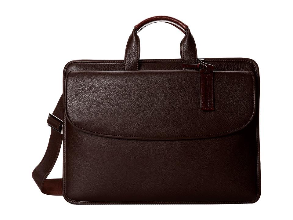 Johnston & Murphy - Portfolio Briefcase (Dark Brown) Briefcase Bags