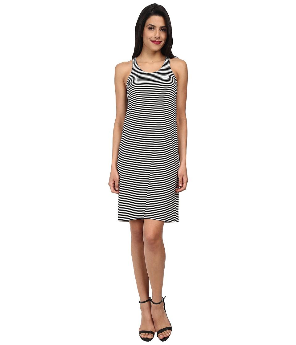 KAMALIKULTURE by Norma Kamali - Go Racer Dress (Black/Off White Stripe) Women's Dress