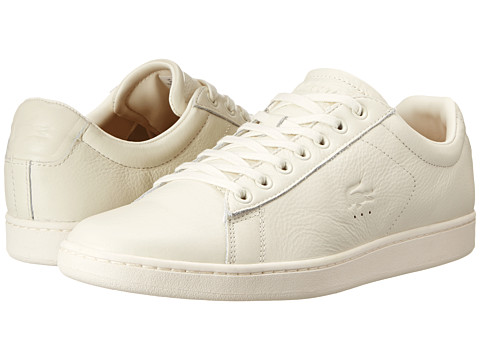 Lacoste - Carnaby Evo 2 (Off White) Men's Shoes