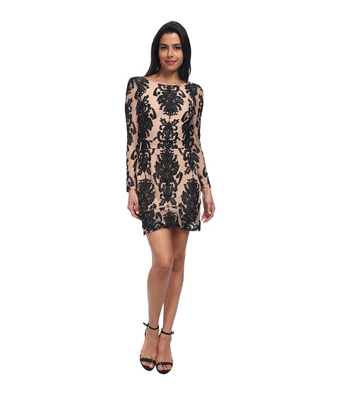 For Love and Lemons - Night To Remember Dress (Black/Nude) Women's Dress