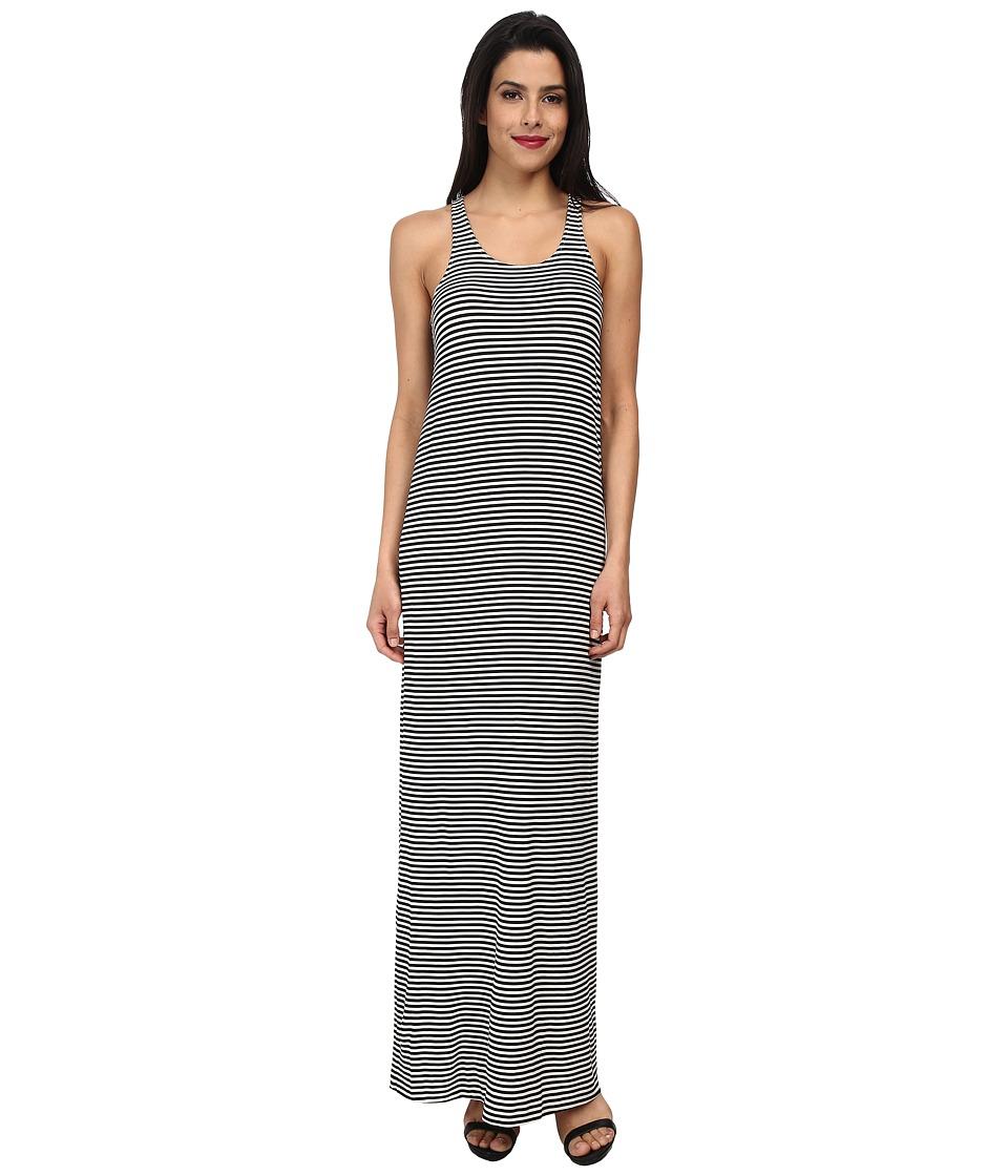 KAMALIKULTURE by Norma Kamali - Go Racer Maxi (Black/Off White Stripe) Women's Dress