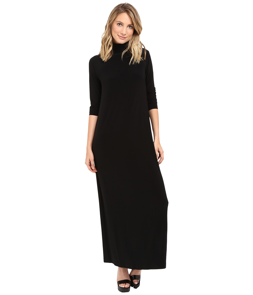 KAMALIKULTURE by Norma Kamali - Go Turtleneck Maxi (Black) Women's Dress