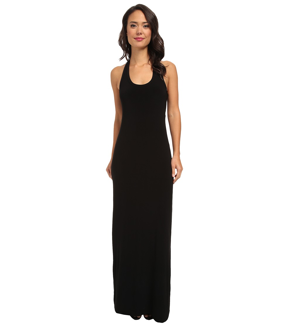 KAMALIKULTURE by Norma Kamali - Peek-A-Boo Racer Maxi (Black) Women's Dress