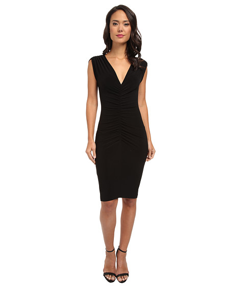 KAMALIKULTURE by Norma Kamali - Shirred Party Dress (Black) Women's Dress