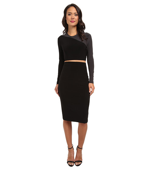 KAMALIKULTURE by Norma Kamali - Teaser Dress (Black/Grey) Women's Dress