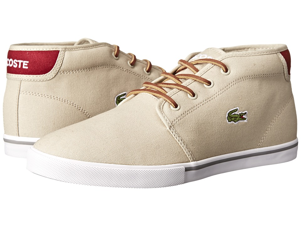 Lacoste - Ampthill TBR (Natural/Dark Red) Men's Shoes