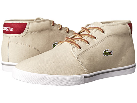 Lacoste - Ampthill TBR (Natural/Dark Red) Men's Shoes