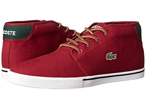 Lacoste - Ampthill TBR (Dark Red/Dark Green) Men's Shoes