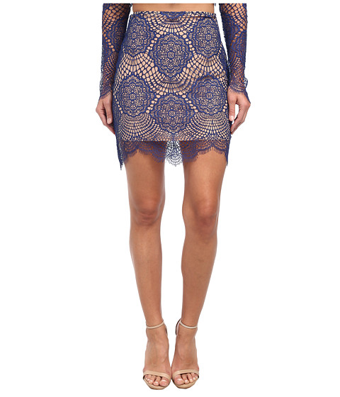 For Love and Lemons - Grace Mini Skirt (Saphire) Women's Skirt