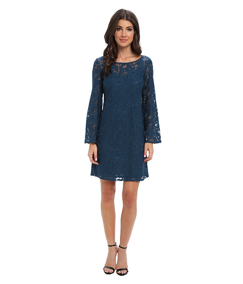 Laundry by Shelli Segal - Lace Shift Dress (Cadet) Women