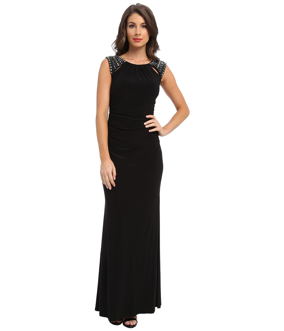 Laundry by Shelli Segal - Cut Out Gown (Black) Women's Dress