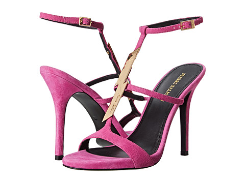 Pierre Balmain - Lightning Bolt Heeled Sandal (Fuchsia) Women's Dress Sandals