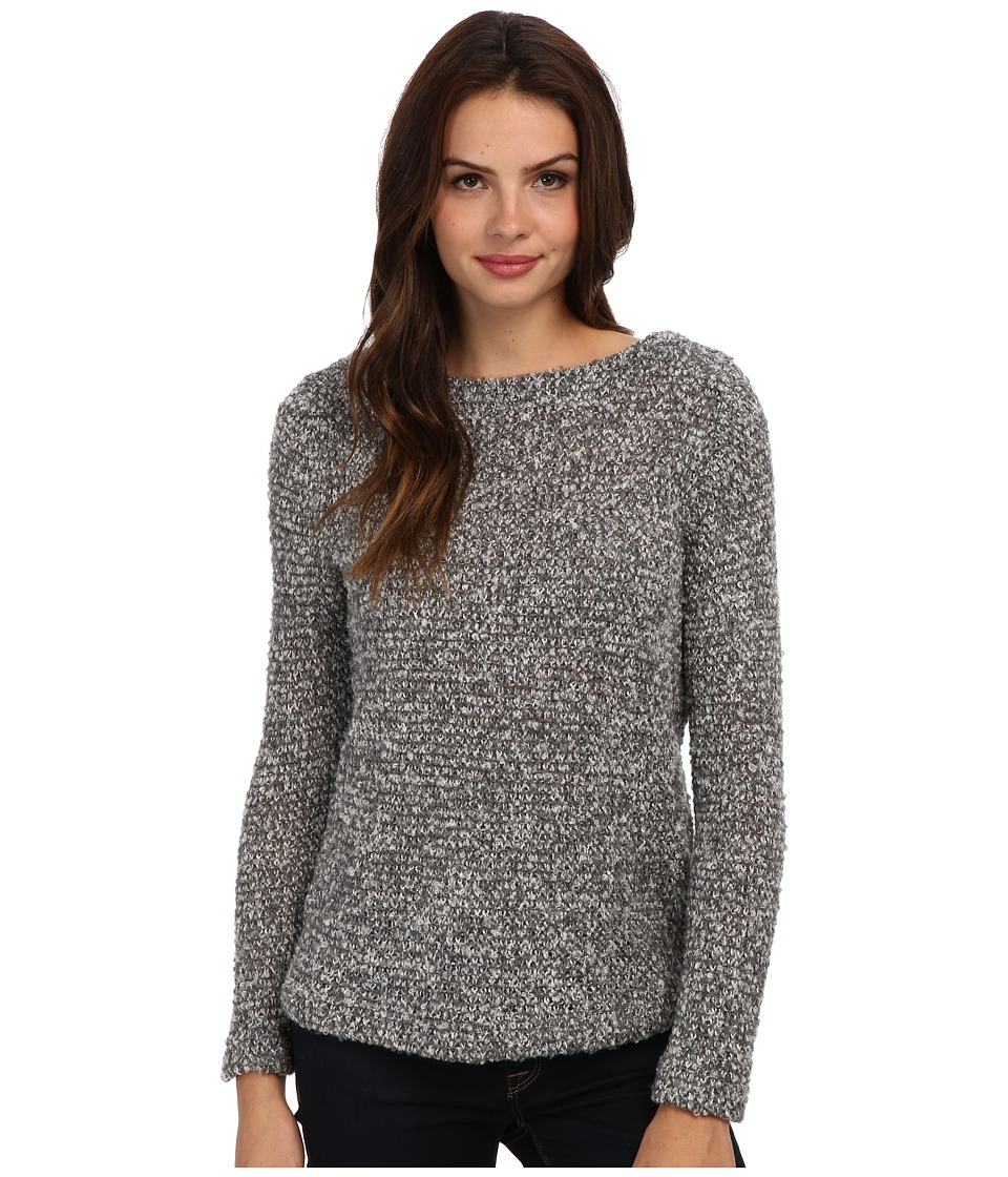 Three Dots - Reversible Tunic Sweater (Granite) Women's Long Sleeve Pullover