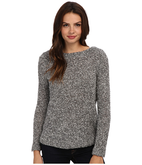 Three Dots Reversible Tunic Sweater (Granite) Women's Long Sleeve Pullover