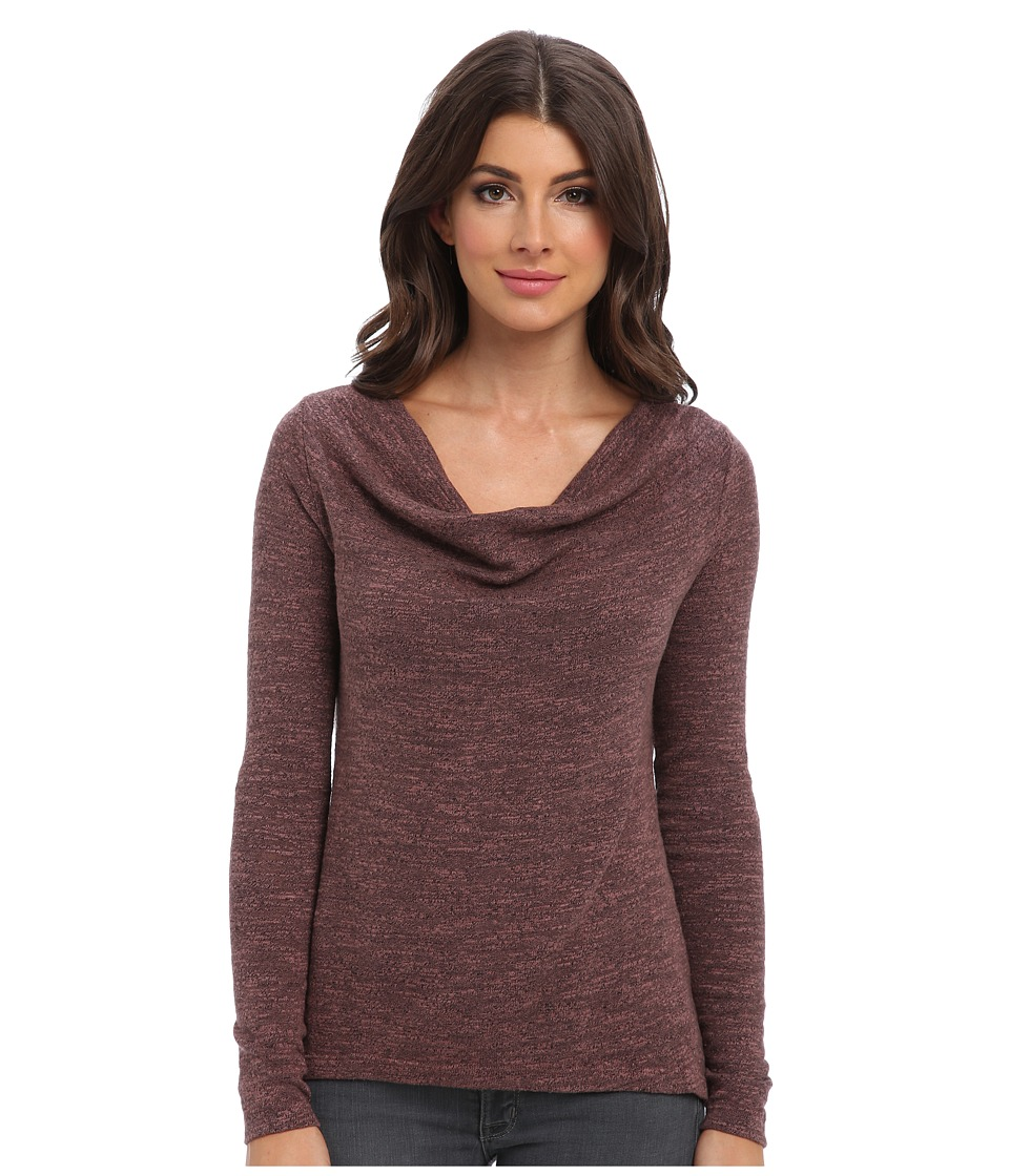 Three Dots - L/S Cowl w/ Wide Slits (Lily Rose) Women's Long Sleeve Pullover