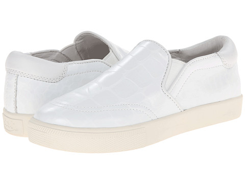 ASH - Impuls (White/White/Gloss Croco/Nappa Wax) Women's Slip on Shoes