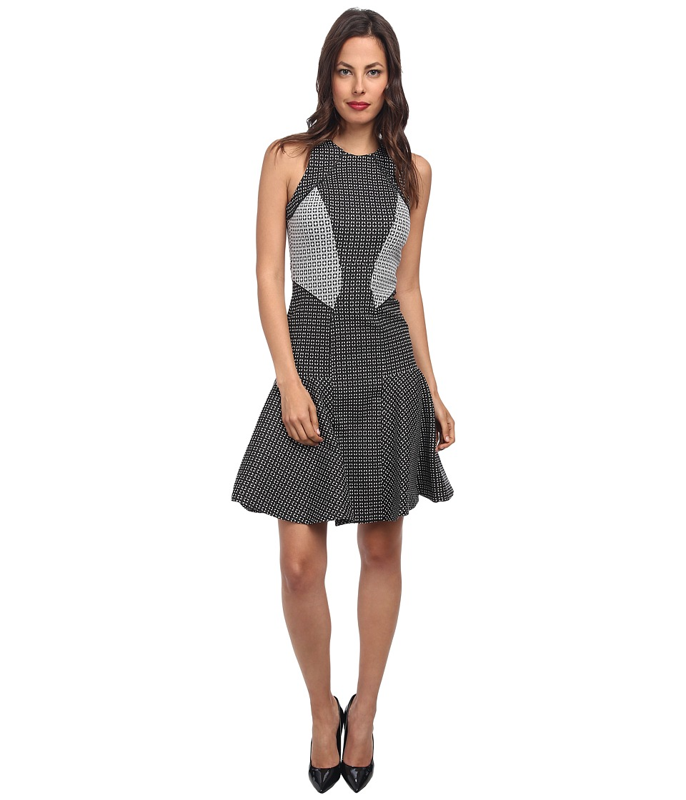 ZAC Zac Posen - Printed Drop-Waist Dress (Black/White) Women's Dress