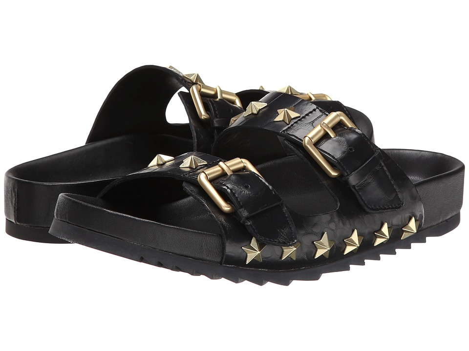 ASH - United (Black/Gloss Croco/Candle) Women's Sandals